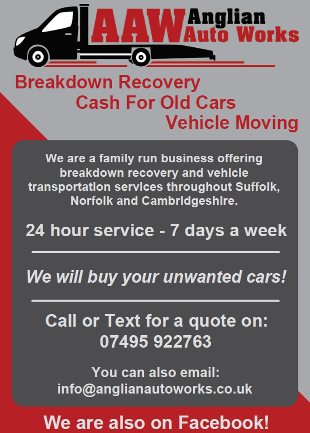 Car Recovery « ANGLIAN AUTO WORKS – VEHICLE TRANSPORT ¦ BREAKDOWN